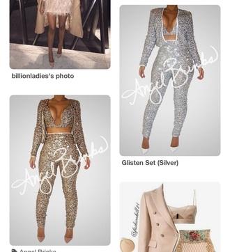 jacket pants glitter clubwear outfit