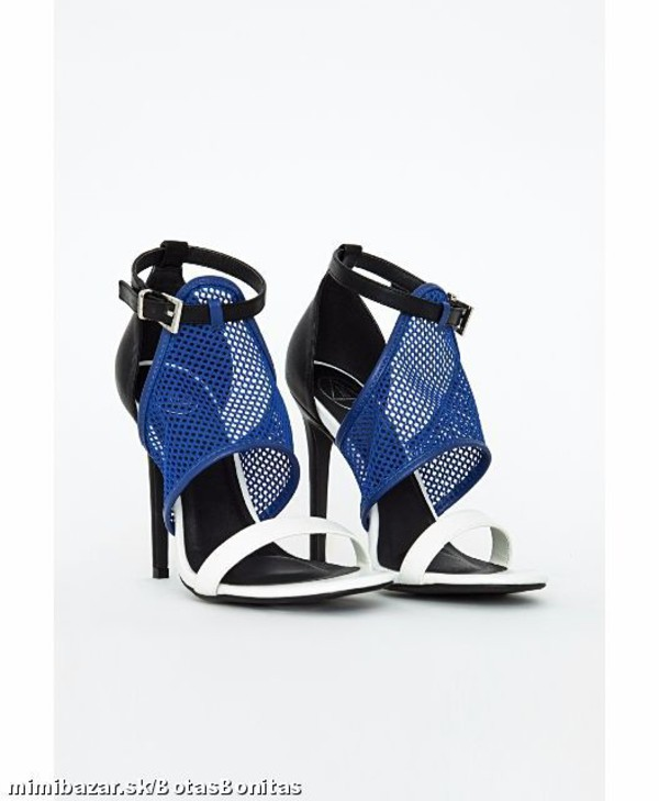 Shoes: black, white, blue, heels, pumps, sandals, high heels, high ...