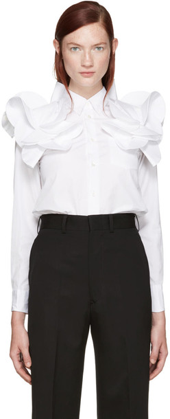 Junya Watanabe White Detailed Shirt