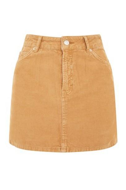 Topshop skirt mini skirt mini camel