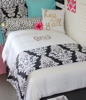 home accessory,reversible comforters,bedding,white bedding,monogram