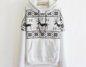 Fawn Hooded Fleece Sweater AA A 091..