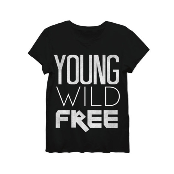 t-shirt style fun womenswear funny black tee young wild and free shirt womens shirt women's t-shirt young wild and free