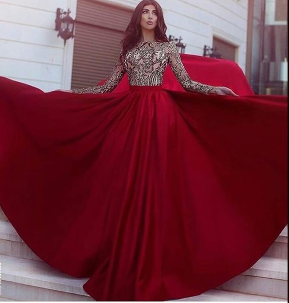 dress prom dress red prom dress gown red burgundy