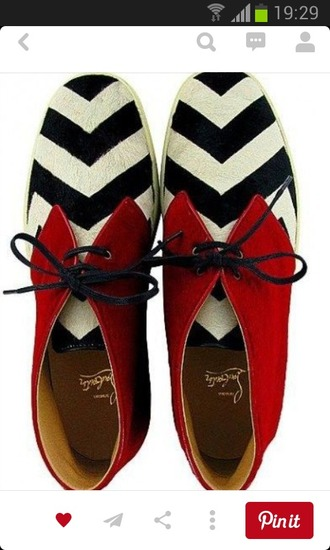 shoes red shoes chevron