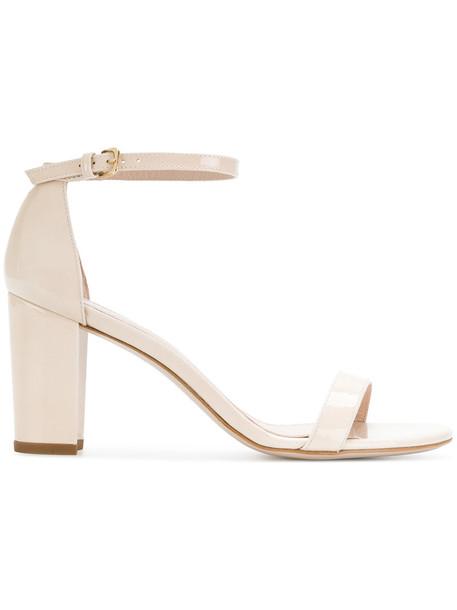 STUART WEITZMAN women sandals nude sandals leather nude shoes