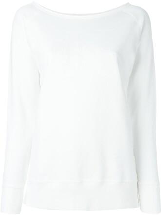 sweatshirt print white sweater