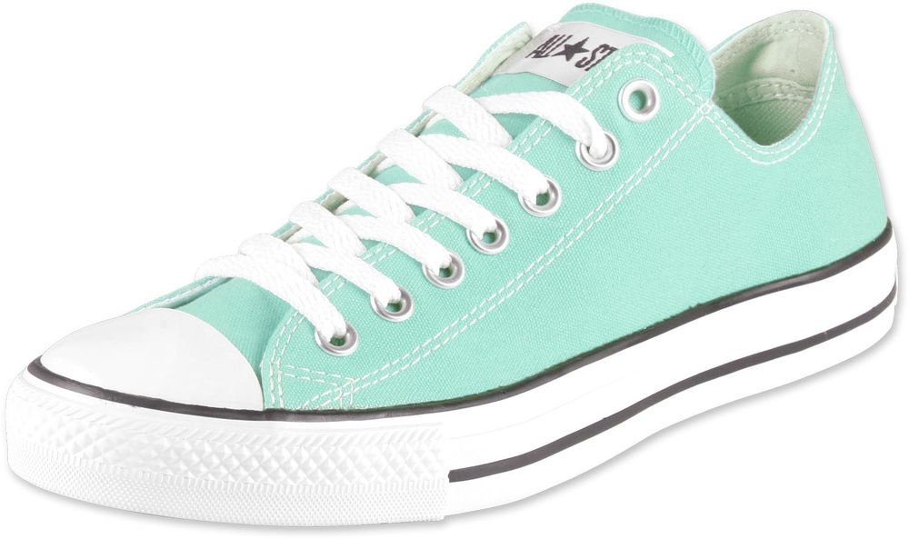 "Converse All Star Lo Mint Green ""Beach Glass"" Sneakers Men's 8 Women's 10 