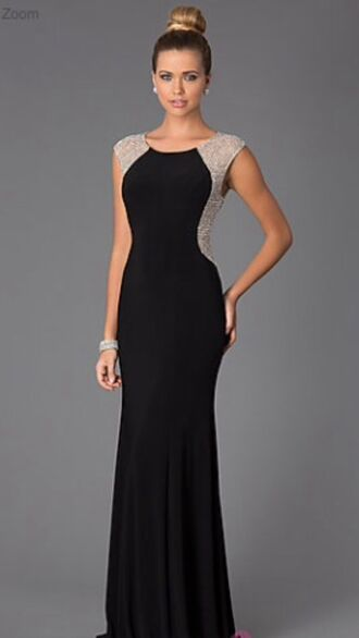 dress prom dress black formal event outfit graduation dress homecoming dress black dress gold dress glitter dress long prom dress long dress style fashion bag