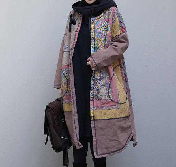 jacket long oversize coat winter coat