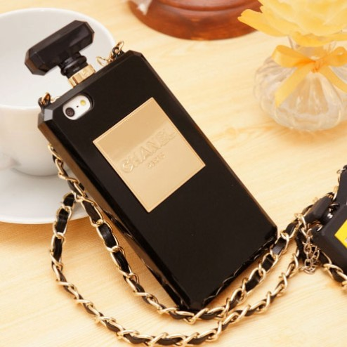 Hot Chanel Perfume Bottle iPhone 5/5s Black - Free Shipping Luxury Cases
