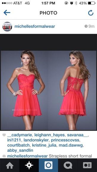red dress lace dress short dress