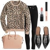 dailystylefinds,blogger,sweater,jacket,jeans,tank top,dress,bag,t-shirt,blouse,animal print,leopard sweater,handbag,givenchy bag,fall outfits