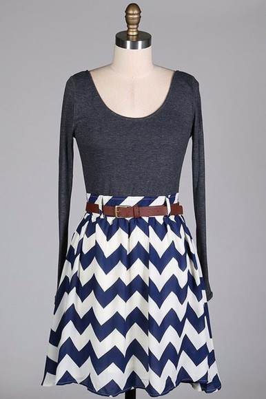 gray blue and white dress