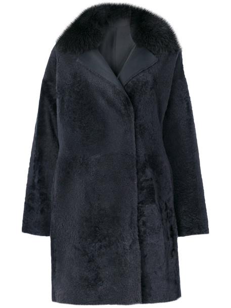 Guy Laroche Vintage coat fur fox women grey
