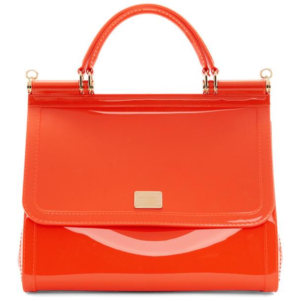 Dolce and Gabbana Dolce & Gabbana Orange PVC Miss Sicily Bag