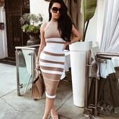 dress,bolderside,amrezy,midi dress,bodycon dress,fall dress,stripes,sweater dress