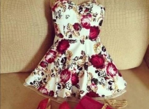 dress white dress mini dress cute dress red dress flowered dress blouse