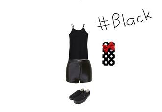 tank top black tank top black shorts