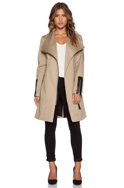 mackage jacket tan