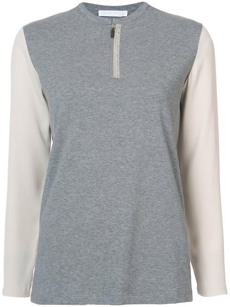 Fabiana Filippi top women spandex cotton grey
