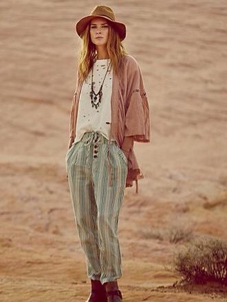 pants hippie indie shirt