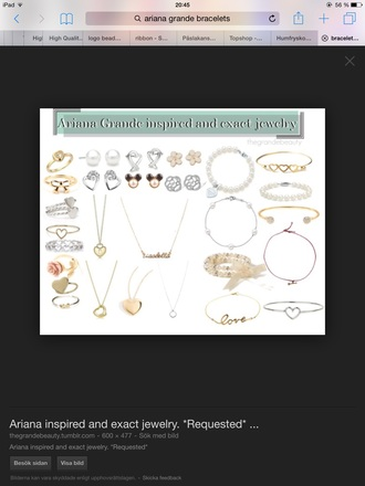 jewels jewelry ariana grande bracelets pearl ring necklace