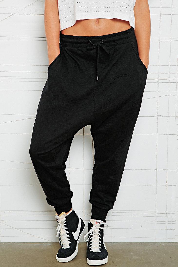 Sparkle & Fade Drop Crotch Slub Sweat Pants - Urban Outfitters