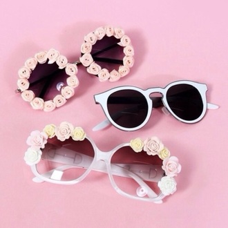 sunglasses pretty pink white
