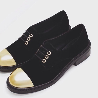 shoes black gold black shoes footwear gold detail velvet velvet shoes noir