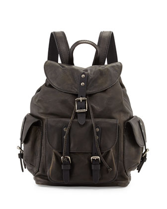 Frye veronica leather backpack, black