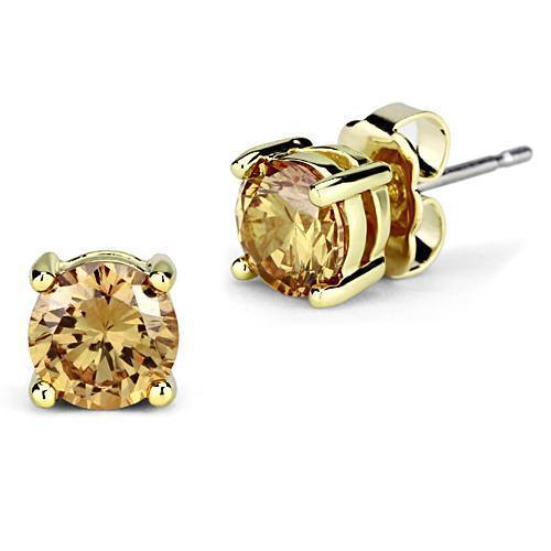 1CT Gold Golden Stud Earrings