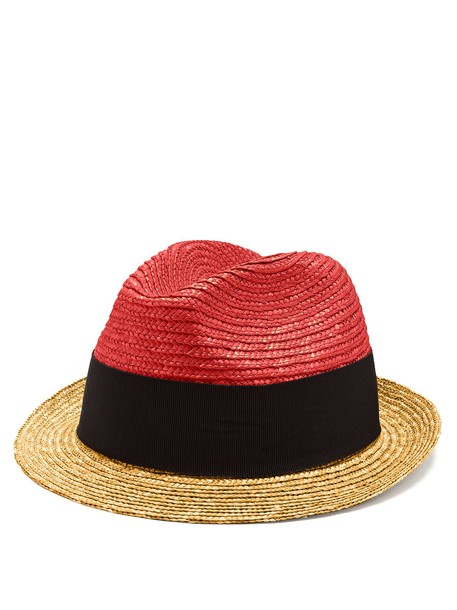 Prada hat straw hat red
