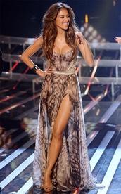 dress,nicole scherzinger,x factor,snake print,maxi dress,slit skirt