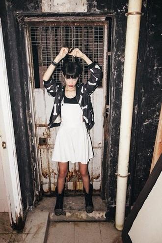 jacket grunge black black jacket bones pattern bomber jacket soft grunge outfit