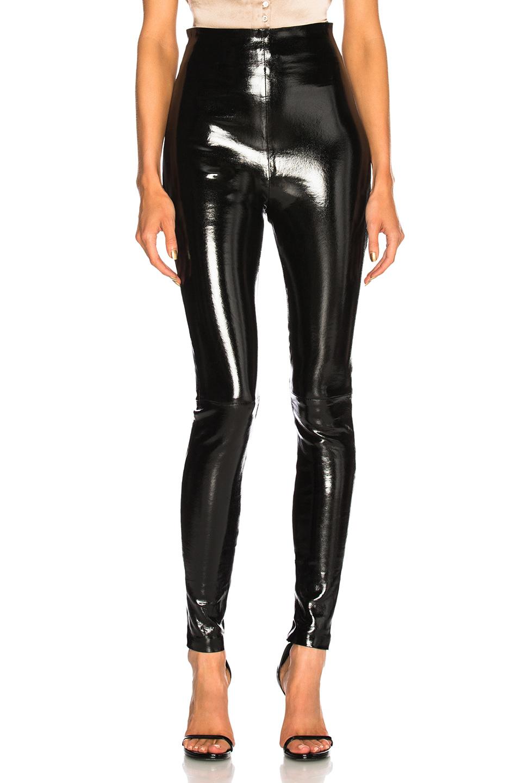 SABLYN Jessica Patent High Waisted Leggings in Black | FWRD