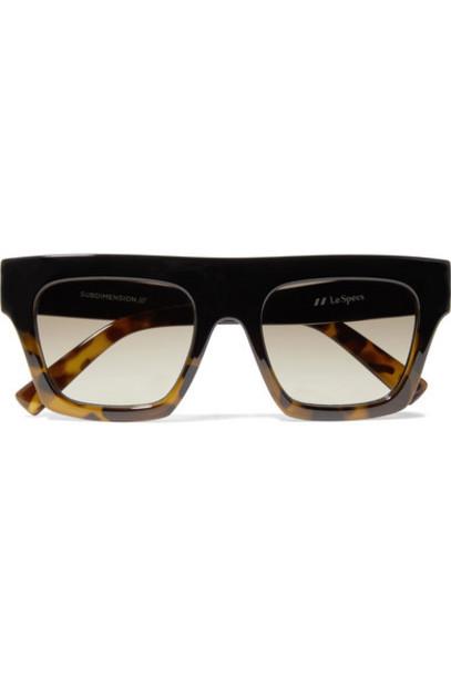 Le Specs - Subdimension D-frame Tortoiseshell Acetate Sunglasses - Black