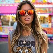 sunglasses,on point clothing,sunnies,orange,red,edgy,style,trendy,hipster,tumblr,summer,cool,girl,travel,blogger,instagram,pretty,beautiful,date outfit,lifestyle,women,gorgeous,fashionista,jewelry,jewels,accessories,Accessory,blonde hair,tumblr girl,t-shirt,summer beauty