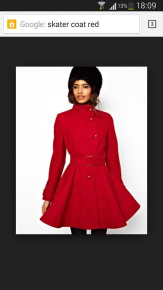 buttons winter coat skater coat