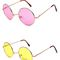 Round colors hippie sunglasses