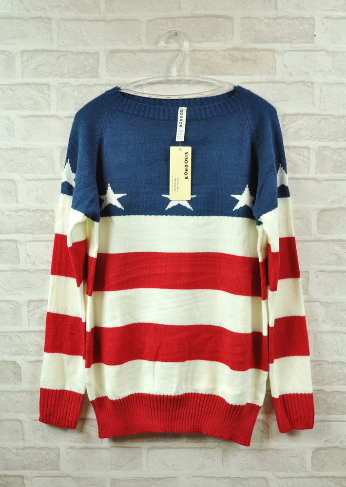 Vintage loose flag sweater / dopediva