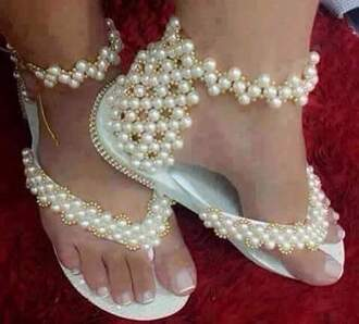 shoes white pearls rhinestone wedding bridal shoes for brides prom party evening women dress shoes fashion