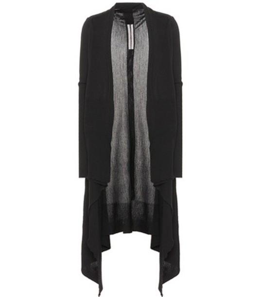Rick Owens cardigan cardigan draped wool black sweater