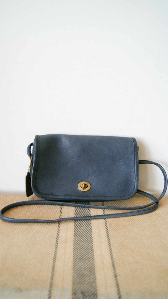 Vintage Coach Bag. 80s Leather Purse. by NewOldFashionVintage