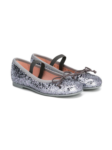 Pretty Ballerinas Kids glitter leather grey shoes