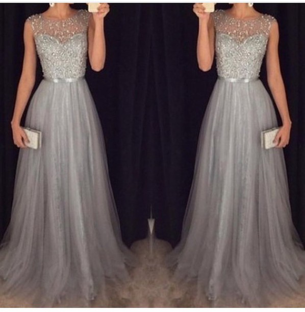 dress grey dress elegant dress long dress grey prom long sparkl long prom dress sparkle prom dress sexy prom dress tulle prom dress floor-length prom dress grey sparkly high neck dress long grey bridesmaid dresses gown