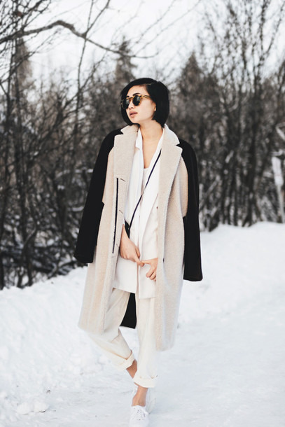 ordinary people blogger pants winter coat
