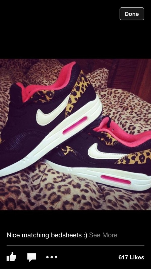 shoes nike airmac lepord print