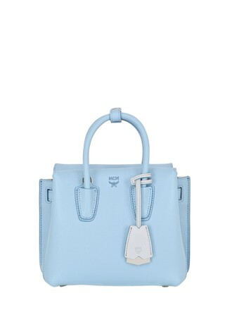 mini bag shoulder bag leather light blue light blue