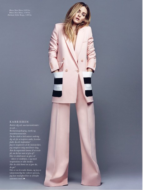 fashion blogger pants wide-leg pants blazer suit olivia palermo oversized